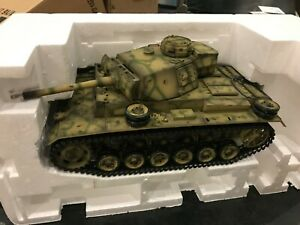 TAIGEN 1:16 RC German Panzer III Tank 2.4GHz - FIX ME - NEEDS Radio & Battery