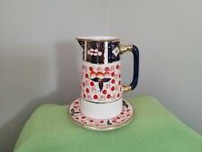 Antique G Clews & Co Imari Style Pattern Art deco hot water jug and stand lustre
