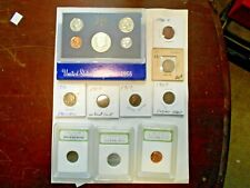 Coin Collector Lot9 -1968 S Proof Set,Slab,Indian Head,Buffalo,V Nickel ,Wheat