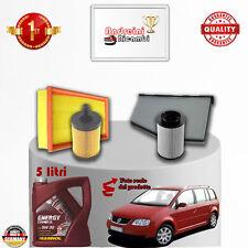 Set Service Filter + Öl VW Touran 2.0 Tdi 103KW 140CV von 2008 -> 2010