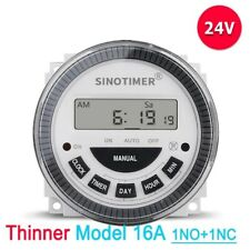 Digital Timer Switch Weekly Programmable 24v Dc Automatic Gate Listed Relay