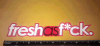 Fresh As F*ck Red JDM Drift Race Dope Funny Vinyl Decal Sticker (redbbg)