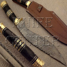 SUPERB CUSTOM MADE DAMASCUS STEEL KUKRI KNIFE | HUNTING KNIFE | BOWIE KNIFE