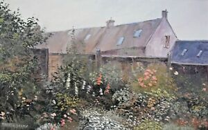 Pamela Derry - Original Oil Painting - 'The Back Garden'.