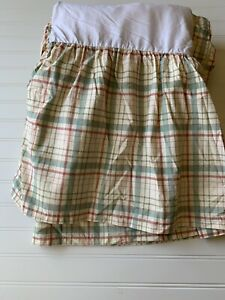 Ralph Lauren Chaps Home Bed Skirt Plaid Red Green Brown Farmhouse  KING