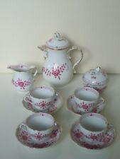 Meissen Kaffeeservice Mokkaservice Reiche alte Indische Purpurmalerei 4 Personen