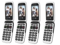 NEW DORO PHONE EASY 611- 612 GREY/WHITE EASY TO USE CAMERA UNLOCKED GENERIC BOX