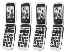 Nouveau téléphone doro facile 611 - 612 Gris / blanc facile à utiliser Caméra Débloqué générique