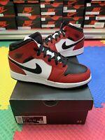 Nike Air Jordan 1 Mid Chicago Black Toe Size 5.5 6.5 7 2020 Gym Red 554725-069