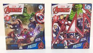 Marvel Avengers, Lot of 2 brand new 48 piece jigsaw puzzles Thor, Hulk, Iron Man