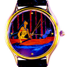 Disney Pocahontas Meeko The Racoon Canoeing, Rare NIB Fossil DM-12037 Watch $199