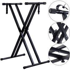 Adjustable Metal X Stand Music Keyboard Electronic Piano Dual Tube Standard Rack