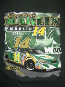 STERLING MARLIN No 14 WASTE MANAGEMENT NASCAR (2X) Shirt Daytona 500 Winston Cup