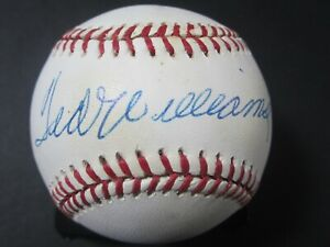 Ted Williams Boston Red Sox signed autographed OAL baseball JSA Full Letter