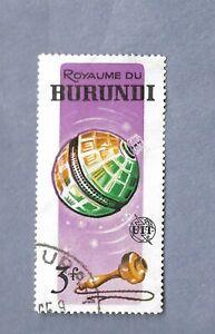 BURUNDI USED YEAR 1965 SPACE STAMP TELSTAR & OLD TELEPHONE HANDPIECE