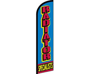 Radiator Specialists Blue / Red Windless Banner Advertising Marketing Flag