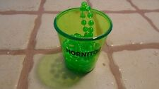 LOT OF 25 Hornitos Shot Glass Necklaces green plastic color