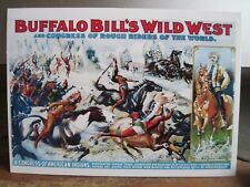 "BUFFALO BILL'S WILD WEST SHOW Cody Indians Blank Greeting Note Card w Env 5""x7"""