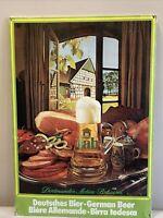 Vintage Dab Beer Large Cardboard Stand Up Sign German Dortmunder Actien-Brauerei