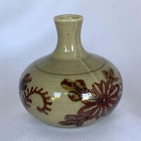 Vintage Bud Vase Mini MCM Japanese Stoneware Pottery Ceramic Pot