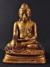 Seated Buddha, gilded bronze, Mandalay era, Burma (Myanmar), ca. 1860 - 1900 AD