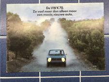 1971 VW K70 Sales Brochure Dutch Vintage VOLKSWAGEN RARE