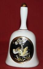 Hand Made Gilded Floral Birds Porcelain Bell