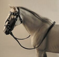 1/6 scale handmade black leather medieval bridle Mr. Z Hanoverian Marx horse