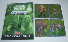 Topps Star Wars factfiles sticker criaturas-album + todos los 84 sticker