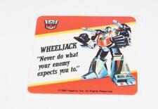Wheeljack Transformers Action Trading Card Motto Sticker Insert 1985 G1 Hasbro