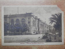 CARTOLINA vecchia foto d epoca NAPOLI STAZIONE ZOOLOGICA AGUARIUM aquarium 1922