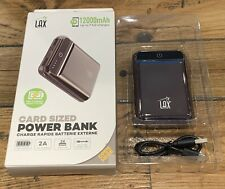 LAX Card Sized Power Bank 12000mAh Fast Charging Battery Pack With Micro USB