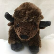 "Wild Republic Bison Buffalo Brown 2012 K & M International Plush 10"" Toy Lovey"