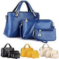 3PC/SET Women Handbag Shoulder Bags Tote Purse Leather Ladies Messenger Hobo Bag