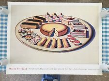 "WAYNE THIEBAUD,FRENCH PASTRIES,1963, RARE AUTHENTIC XL(46"" x 35"")1989 ART PRINT"