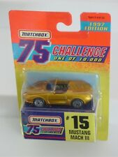 MATCHBOX GOLD 1997 75 CHALLENGE ONE OF 10,000 #15 MUSTANG MACH III