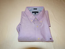 Mens Tommy Hilfiger 18 34-35 slim fit  long sleeve shirt heritage Oxford 075609