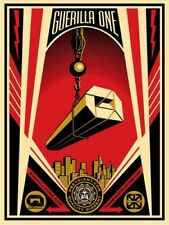 GUERILLA ONE x THE SEVENTH LETTER - OBEY GIANT SHEPARD FAIREY PRINT - SIGNED / #