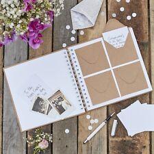 Rustic Vintage Kraft Wedding Envelope Guest Book inc 80 Envelopes / Note Cards
