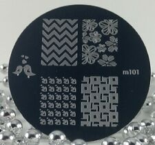 Round Nail Stamping Plates Manicure Pedicure Nail Art 101