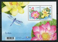 Canada 2018 MNH Lotus Flower 2v M/S Flowers Nature Stamps