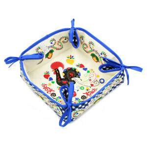 100% Cotton Bread Basket With Traditional Portuguese Rooster - Various Colors