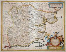 HONDIUS JANSSONIUS ESSEXIAE DESCRIPTIO THE DESCRIPTION OF ESSEX LONDON 1638