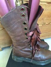 Doc Martens Rare Triumph 1914 Aimilita 12Hole Brown/checked Leather Boots Uk4VGC