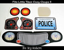 New Replacement Decals Stickers fits Little Tikes Cozy Coupe II  Black Police