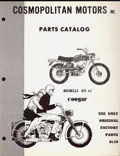 BENELLI 65cc COUGAR PARTS MANUAL / COMOPOLITAN MOTORS