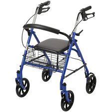 7.5'' Wheels Elderly Mobility Rollator Walker With Seat Steel Wheelchair Rolling