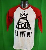 Mens Fall Out Boy FOB Crown Raglan Shirt New XS,S,M,L,XL,2XL,3XL