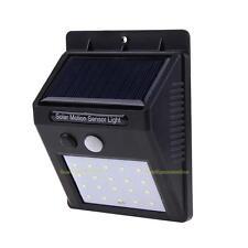 PIR 20 LED Solarleuchte Wandleuchte Gartenlampe Lichtsensor Bewegungsmelder