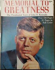 Memorial To Greatness Presidential Years of John F. Kennedy BOOK Paperback 1964